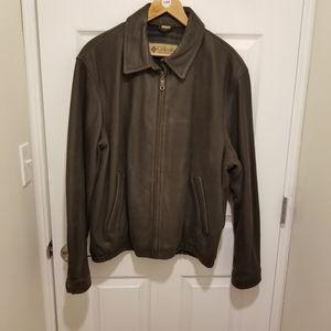 Columbia Vintage Men's Brown Leather Jacket Sz L